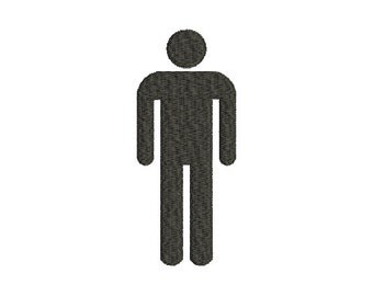 Machine Embroidery Design Instant Download - Man Male Silhouette 1