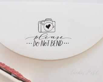 Please do not bend stamp | photographer stamp | hand calligraphy stamp | packaging stamp