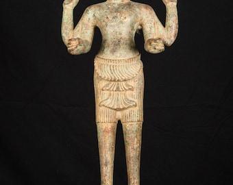 """19th Century Antique Bronze Vishnu Statue - Protector & Preserver - 66cm/26"""""""