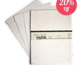 "100 Shts Deckled/Cream 8.5"" x 11"" Printable Natural Paper (Deckled Edge) (Cream)"