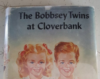 Vintage book 1936 /the bobbsey twins at cloverbank / hardcover /Laura Lee hope/ no. 19 / Grosset and Dunlap/