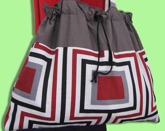 Cotton Stripe Shoulder Bag