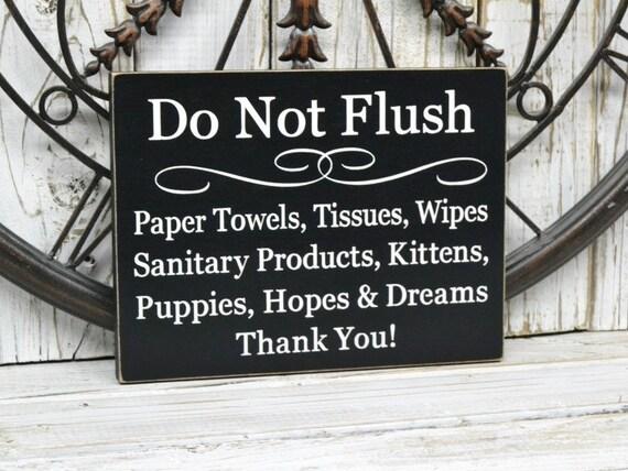Do Not Flush Septic System Rules Sign Bathroom Decor