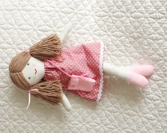 Traditional rag doll, little doll, cloth doll, doll for little girl, handmade soft toy