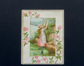 Vintage Children VTC; Little Girl Gardener.