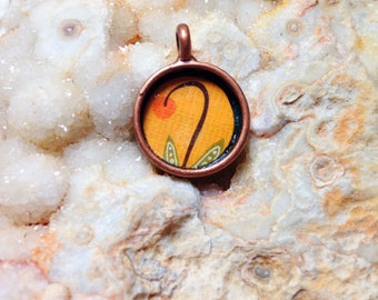 Whimsical Floral Pendant