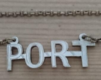 Vintage port decanter label