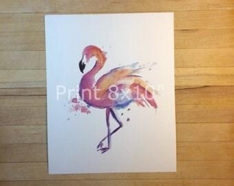 "Flamingo Print - 8""x10"""