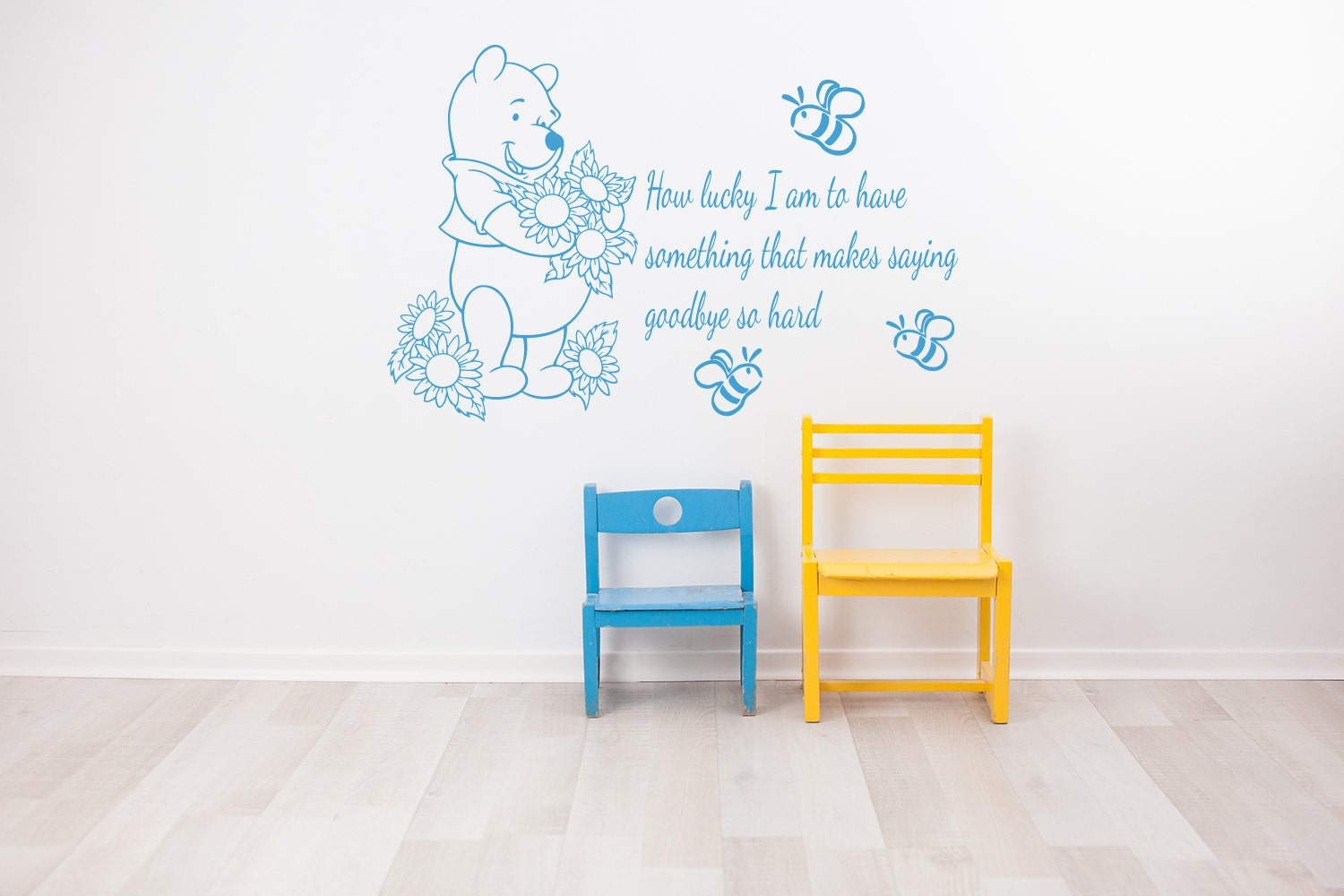 winnie der pooh wandtattoo wie gl cklich bin ich von. Black Bedroom Furniture Sets. Home Design Ideas