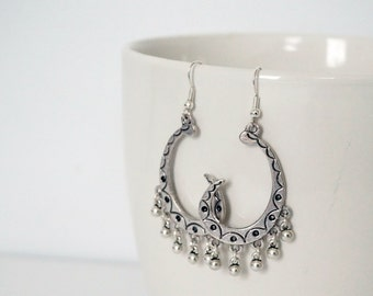 Moon Silver earrings.