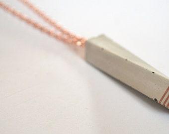 Unique, elegant concrete necklace