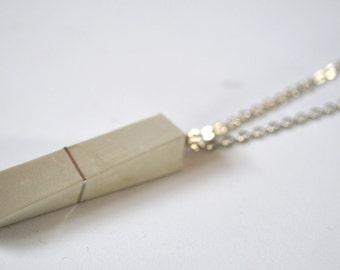 Unique silver concrete necklace