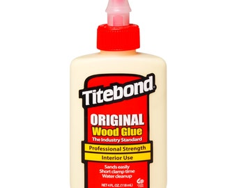 Titebond Original WOOD GLUE Professional Yellow Woodworking adhesive non toxic 4 oz squeeze bottle tite tight Bond 5062