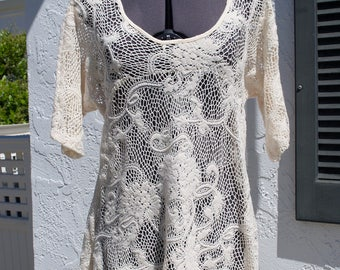 Soft Lace Tunic Dress // Size Women's Medium