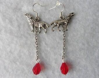 The Werewolves Earrings - Gothic, Wolf, Mystical, Elven, Blood, Ghost, Werewolf, Vampire