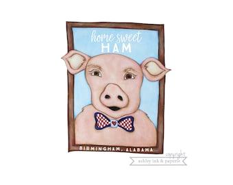 Notecard or Print ~ Home Sweet Ham