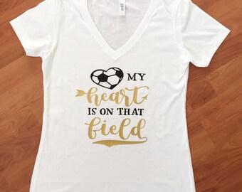Soccer Mom Shirt My Heart Is On The Feild