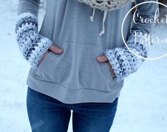 CROCHET PATTERN wrist warmers,beginner crochet pattern, modern crochet pattern, indie crochet pattern, DIY pattern,// The Nomad Wristers