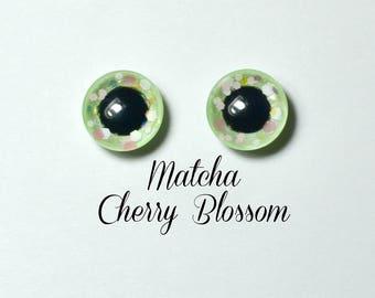 Eyechips 13 mm - color Matcha Cherry Blossom Pullip size models