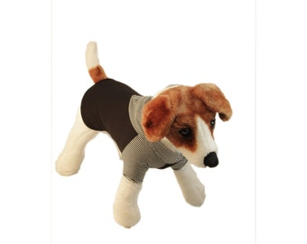 Dog clothing - Black hoodie with short or long sleeves available in Sizes XS,S,M,L &XL