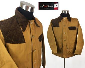 Vintage 70s REDHEAD Hunting / Field Jacket MEDIUM // Work // Chore // Workwear // Cotton Twill // Barn // 1970s // M // Birding // Retro