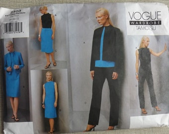 Tamotsu Design Above Hip Jacket, A-Line Dress, Top, Skirt and Pants Sizes 18 to 22 Vogue Wardrobe Sewing Pattern 2403 Uncut/FF