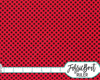 RED & BLACK DOT Fabric by the Yard, Fat Quarter Red Black Polka Dot Fabric Dot Fabric 100% Cotton Fabric Quilting Fabric Apparel Fabric w5-5