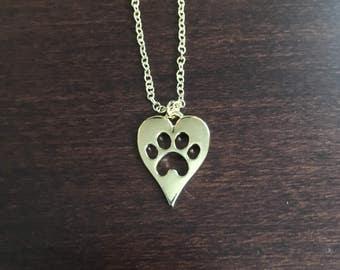 Paw Print, Paw Print Necklace, Paw Print Jewelry, Pawprint, Pawprint Necklace, Dog, Dog Necklace, Dog Jewelry, Puppy, Puppy Necklace