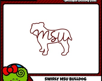 Bulldog SVG College SVG swirly svg svg files cricut files silhouette files digital cut files svg cut files english bulldog svg