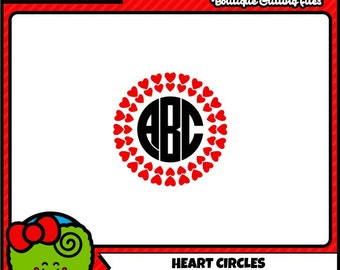 Heart Monogram SVG Valentine Monogram SVG Heart SVG Commercial Free Cricut Files Valentine dxf file Digital Cut Files svg cut files