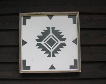 Framed Navajo Tile