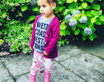 Funny Baby and toddler t-shirt. West coast shirt!  Summer kids shirt. West coast best coast!