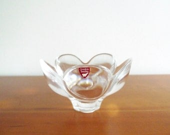 Vintage Orrefors Bowl, Sweden, Pomona, Tulip, Crystal Bowl, Lars Hellsten Design, Scandinavian Glass, Danish Modern Decor,