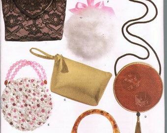 Small Evening Bag Purse Sewing Patterns - Wristlet Purse Pattern - Small Round Purse Pattern - Craft Sewing Pattern - Simplicity 4752
