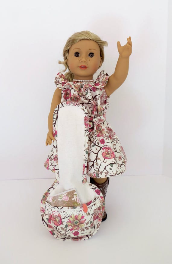 Gig Bag BANJO CASE Handcrafted for 18-inch dolls such as American Girl®  Inspired by and designed to fit Tenney Grant's® banjo