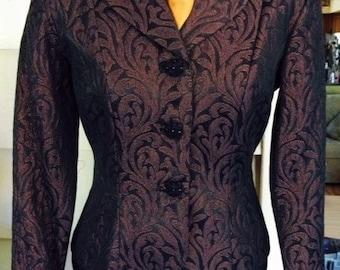 Power Suit, Business Suit,  Elegant Suit, Jacket and Skirt, Women's Suit, Business Outfit, Two Piece Suit, Jacquard Fabic,Sale, Weekend Sale