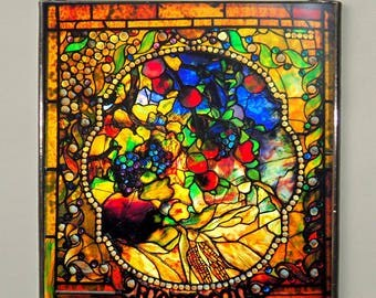 Louis Comfort Tiffany - Autumn, Stained glass