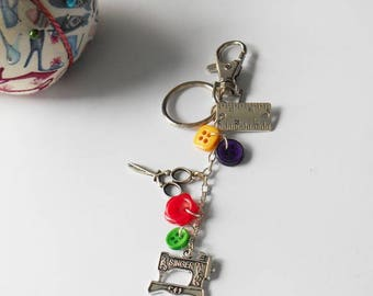 Sewing Bag Charm, Perfect Gift For Sew Lover, Cute Keychain , Birthday Present Idea for Women, Fashion Bag Pendant, Gifts Sewing Enthusiast