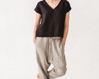 women linen pants – Etsy