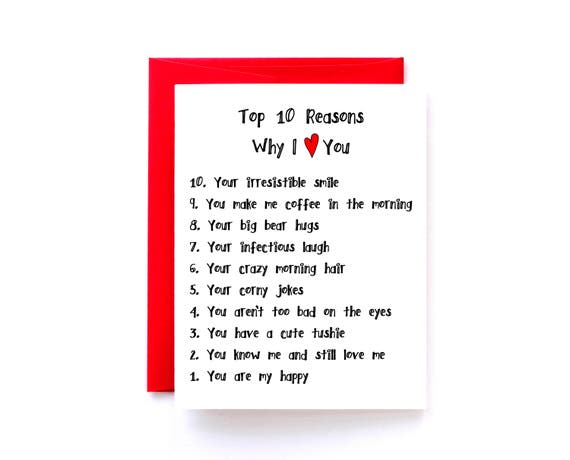 Top 10 Reasons I Love You