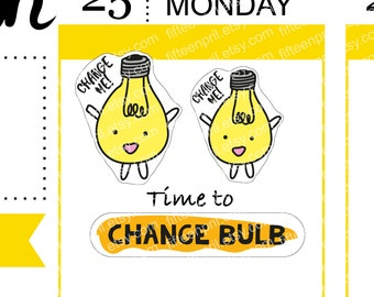 Change light bulb stickers -J639-L014
