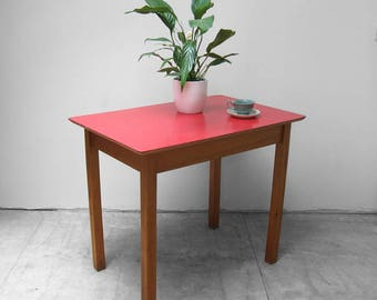 Red Formica Dining Table Mid Century Kitchen Kitsch