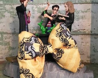 Handmade Hogwarts Harry Potter Hufflepuff  Dog Collar Bow Tie