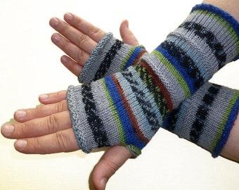 Knit Fingerless gloves | Knitted Fingerless Mittens | Long Arm Warmers | Boho Glove | Women Fingerless | Wrist Warmers |