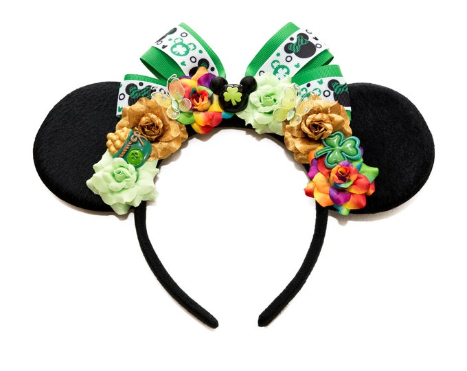 St Patricks Day Mouse Ears Headband