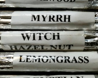 Fragrant Incense Bundle #9. WitchCrafted.HandRolled.Herbal Incense.Jamaican Spice.Myrrh.Lemongrass.Sandalwood.Witch Hazelnut.Egyptian Musk.