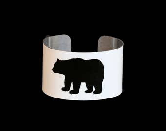 MAMA Bear Cuff Bracelet - Bangle - Custom - Children - Grandchildren - Baby Bear - FUN!