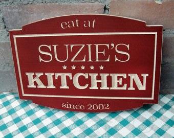 "11"" x 8"" Personalized Kitchen Plaque"