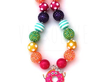 Donut Necklace - Doughnut Necklace - Donut Gifts - Girl's Donut Necklace - Donut Jewelry - Donut Party - Doughnut Donut Birthday Party