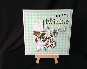Twinkle Twinkle New Baby Decoupage Card